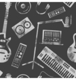 Music production pattern vector image
