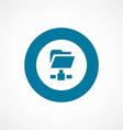 net folder bold blue border circle icon vector image