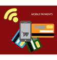 Transaction and paypass vector image
