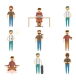 Hipster Set Of Characters vector image