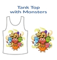 Cartoon Monsters Group vector image