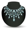 womans necklace sparkling shiny beautiful vector image vector image