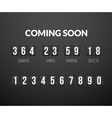 Coming Soon flip countdown timer panel vector image
