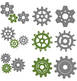 Set of Gears with Six Different Gears vector image vector image