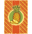 Pineapple fruit on vintage vector image vector image