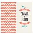 wedding invitation background chevron vector image