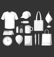 set of promotional gifts and advertising souvenirs vector image