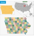 Iowa map vector image