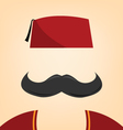 A man with a fez vector image