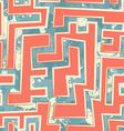 orange geometric seamless pattern with grunge vector image