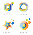 Corporate logo element icon set vector image