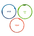 set warecolor circle vector image vector image