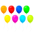 beautiful color balloons vector image vector image