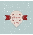 New Year or Christmas white paper Sticker vector image vector image
