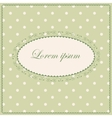 Background with polka dot and clovers vintage vector image