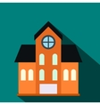 House with a mansard flat icon vector image