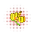 Decline in revenue icon comics style vector image