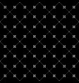 black and white seamless pattern dots and flowers vector image