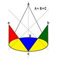 Geometrical drawing vector image
