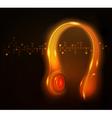 glowing headphone vector image