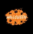 Glowing Orange Template for Happy Halloween Party vector image