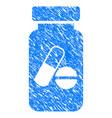 medication vial grunge icon vector image
