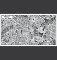 mexico city map in retro style outline map vector image