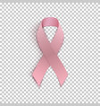 pink ribbon on transparent background vector image
