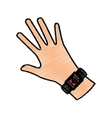 Wearable smart technology vector image