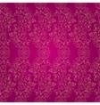 Floral vintage seamless pattern on pink vector image vector image