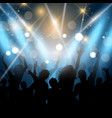 party people on a spotlights background vector image vector image