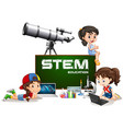 girls and stem education on board vector image