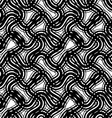 Stripes black and white geometric seamless pattern vector image