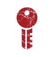 Red grunge key logo vector image