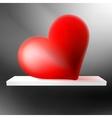Big Red Heart on shelf EPS10 vector image