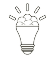 brain bulb idea innovation creative outline vector image