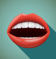Human mouth Stock vector image