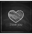 I love you abstract vintage background with vector image