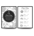 Italian restaurant menu template vector image
