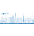 Outline Yokohama Skyline with Blue Buildings vector image