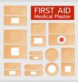 realistic medical plasters set vector image