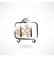 suitcase grunge icon vector image