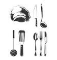 Vintage style elements for restaurant labels vector image