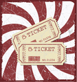 Vintage style movie poster with movie tickets vector image