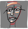 tribal painted face cartoon vector image vector image