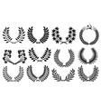 laurel wreath collection vector image vector image