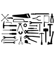 different tools vector image