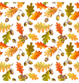 Autumn Leaves Background - Seamless Pattern vector image