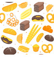 cartoon color bakery background pattern vector image