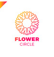 flower logo circle abstract design template vector image